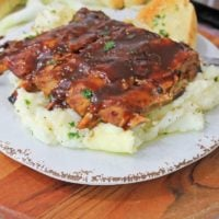 Instant Pot Ribs Recipe with Garlic Mashed Potatoes