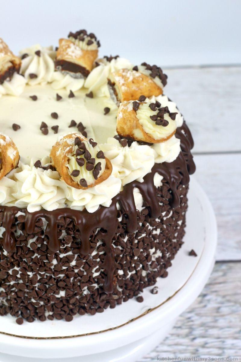 Layered Cannoli Cake Recipe