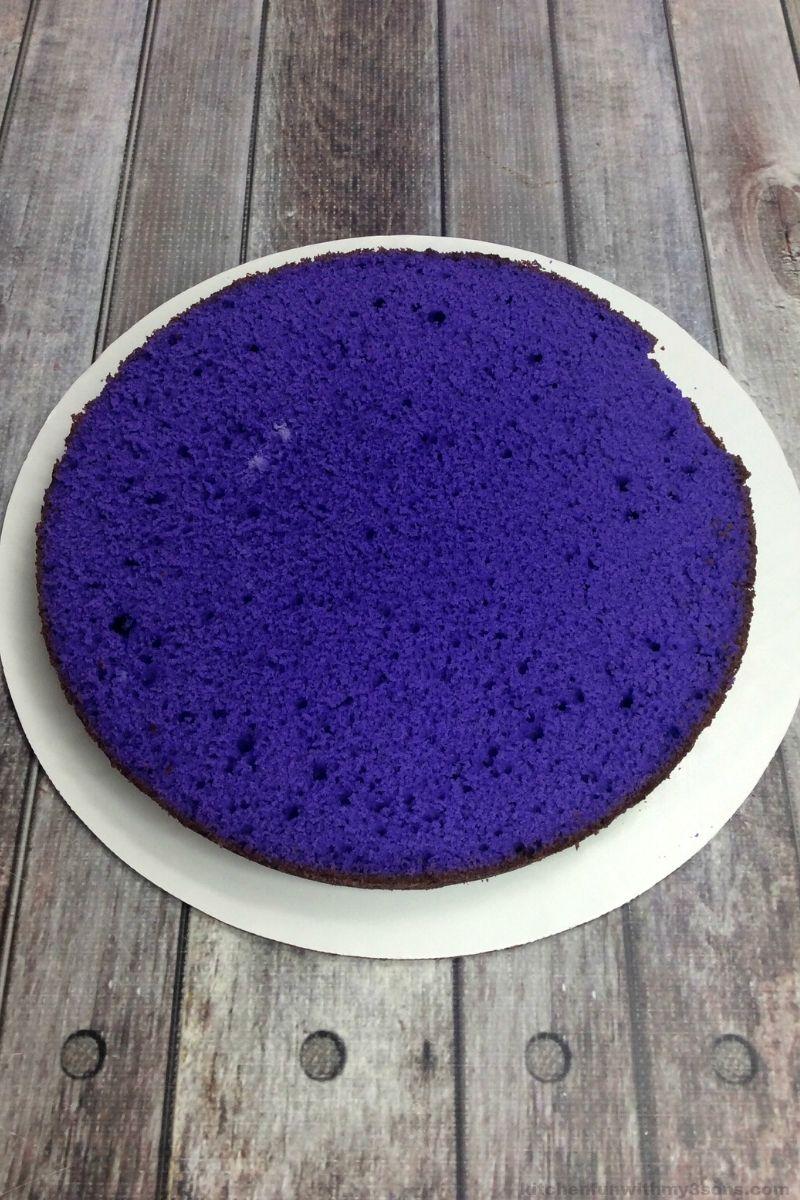 purple cake layer