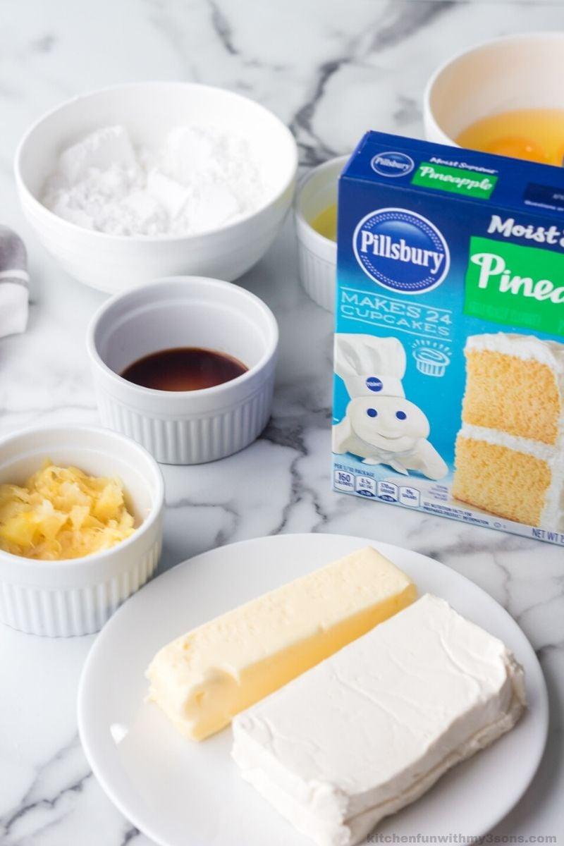 Pineapple Cream Filled Whoopie Pie ingredients