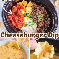 Slow Cooker Cheeseburger Dip