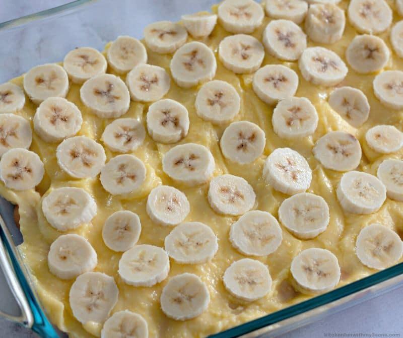 banana layer of Southern Banana Pudding Recipe