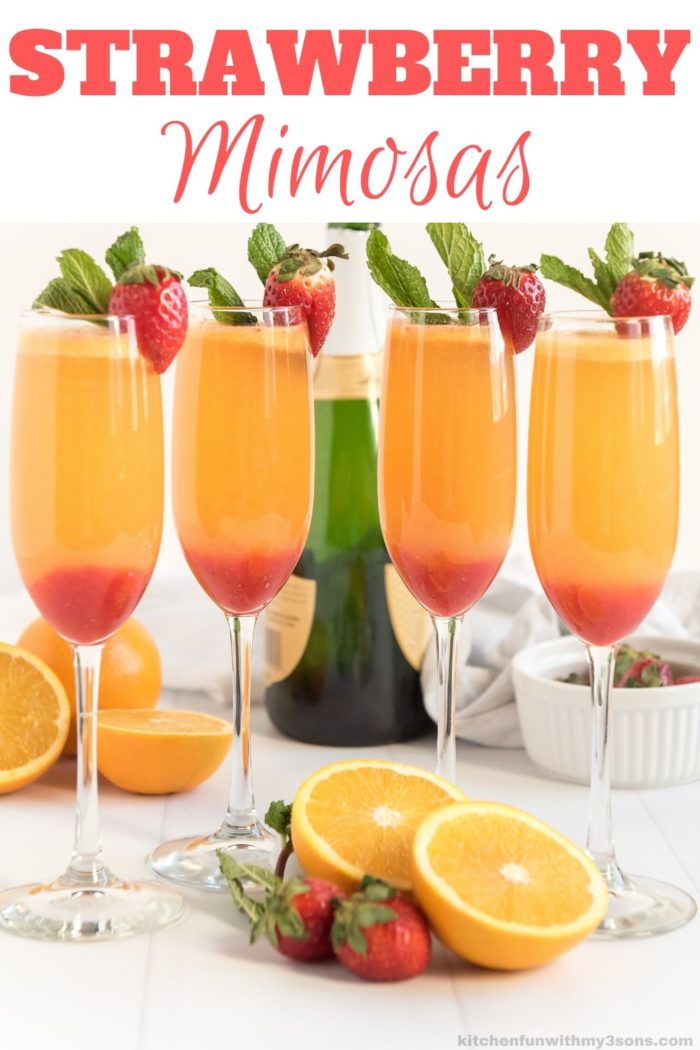 Strawberry Mimosa Recipe for pinterest