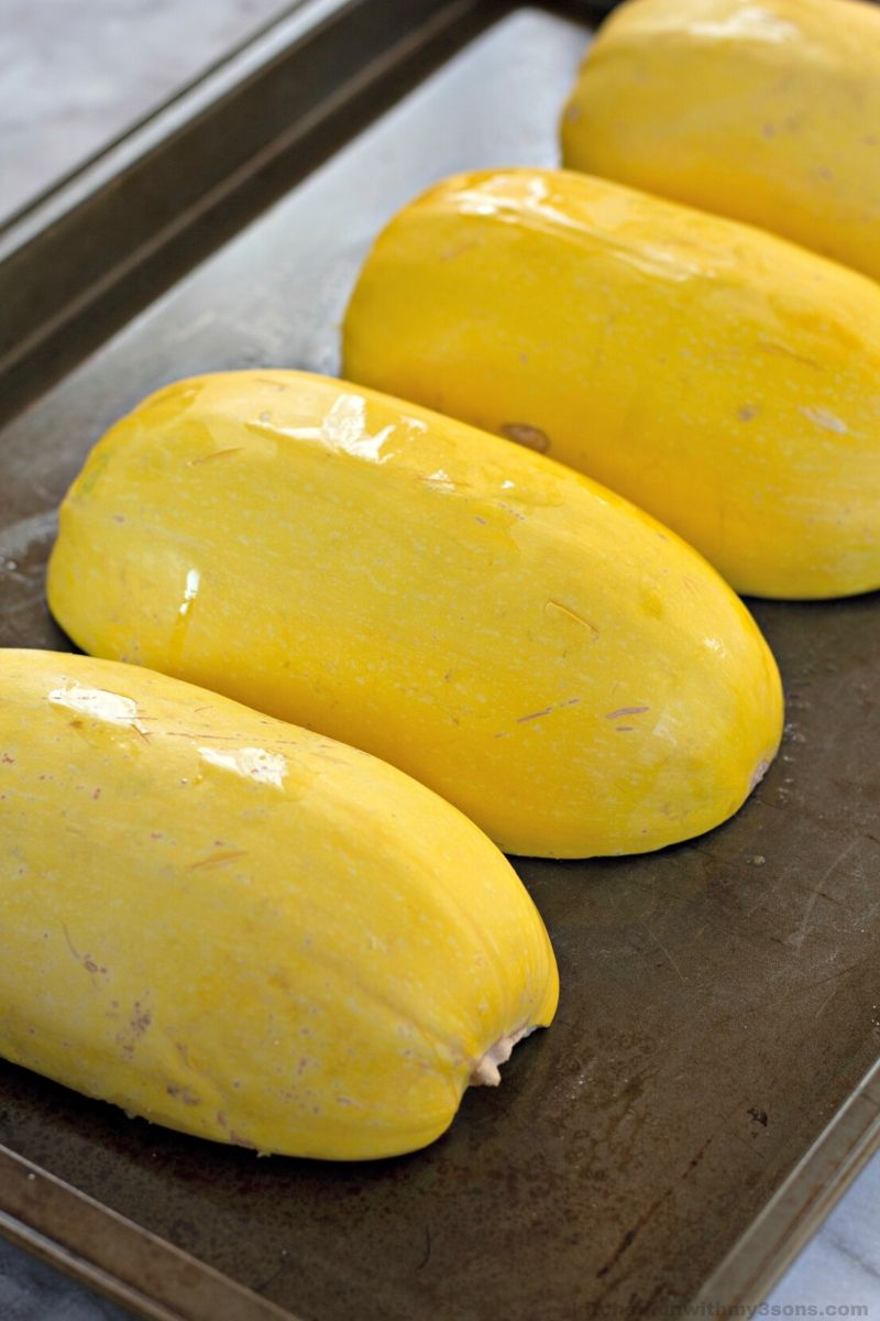 squash on a baking pan