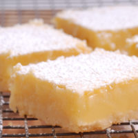 Lemon Bars Recipe with Shortbread Crust (6-ingredients)