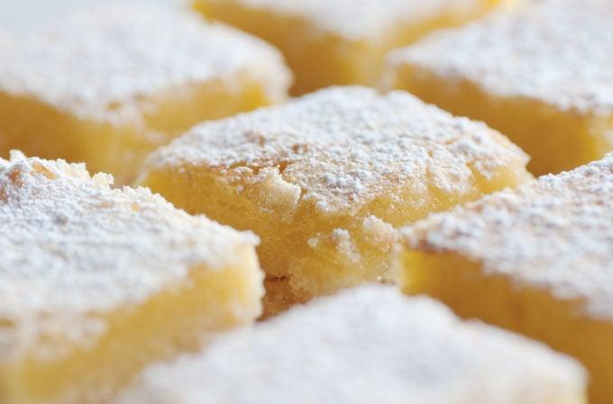 Tops of Lemon Bars