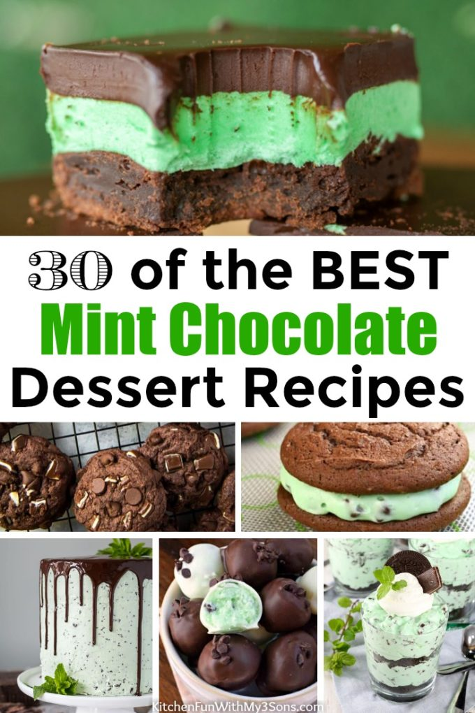 30 of the BEST Mint Chocolate Dessert Recipes