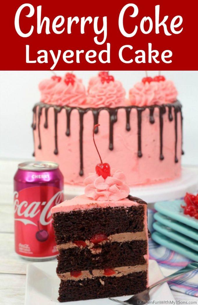Cherry Coke Layered Cake