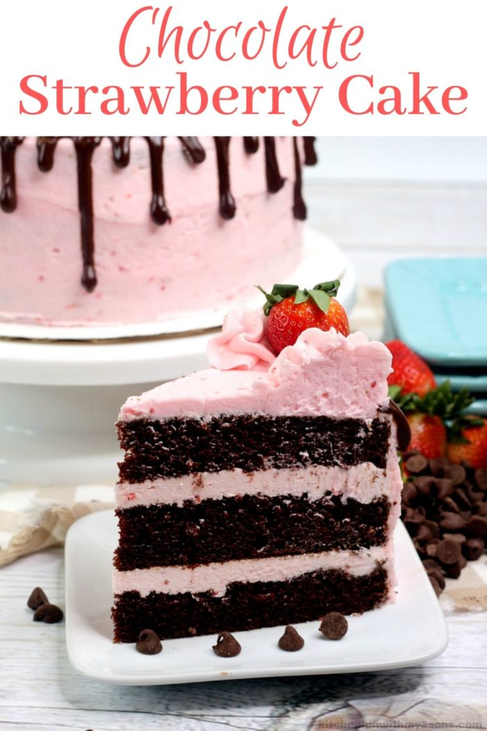 chocolate strawberry cake for pinterest