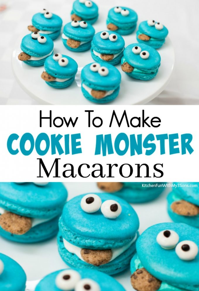 How To Make Cookie Monster Macarons