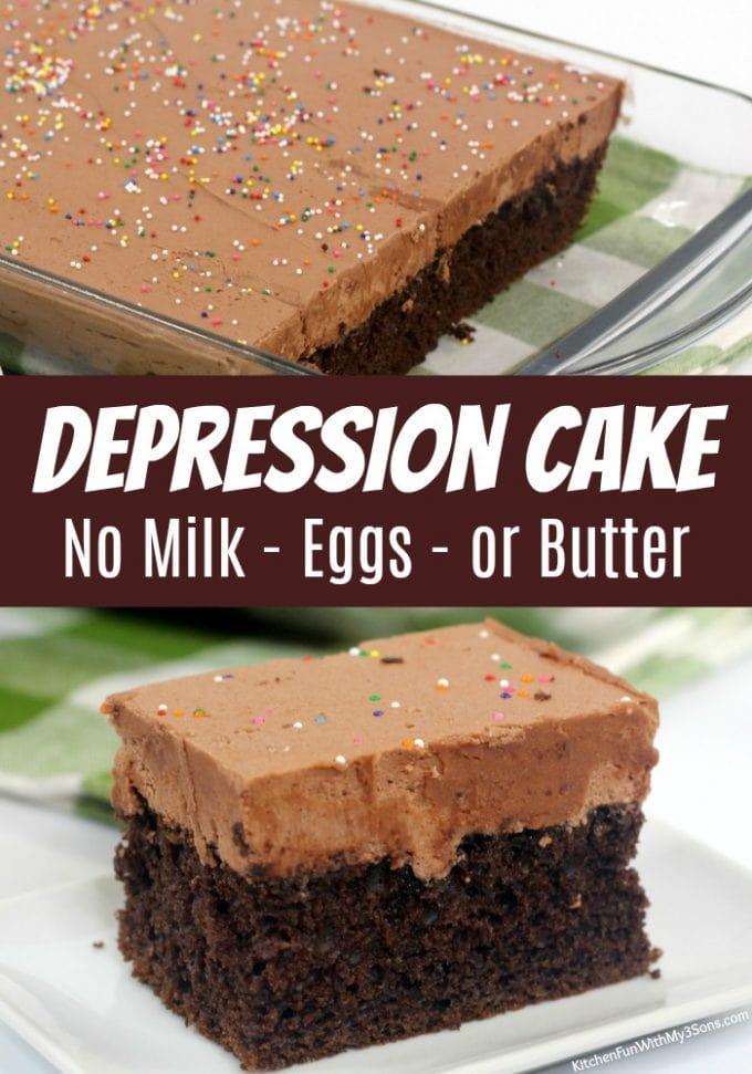 Wacky Cake - No Milk, Eggs or Butter!