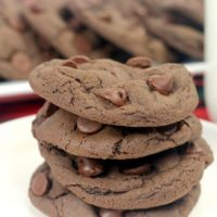 Double Chocolate Chip Cookies (4-ingredients)