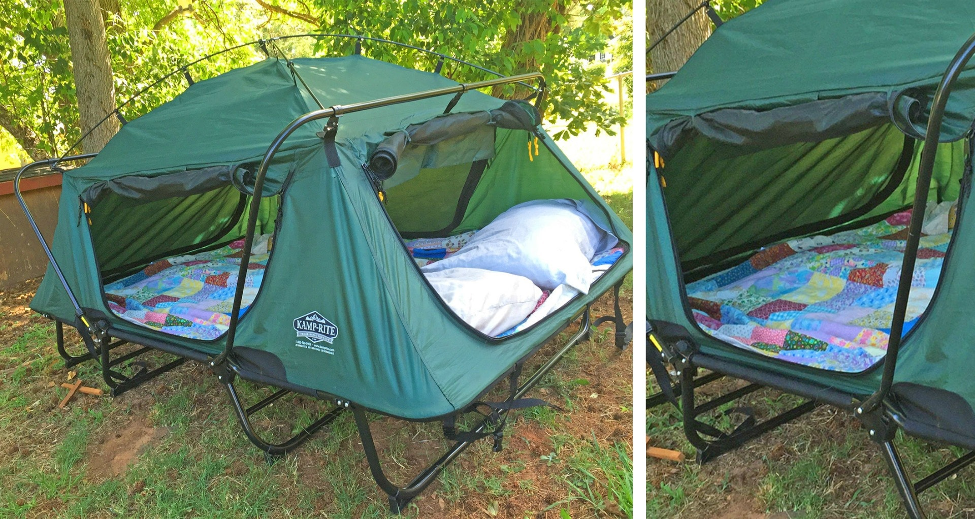 Double Tent Cot - Keeps You Off The Cold Hard Ground For ...