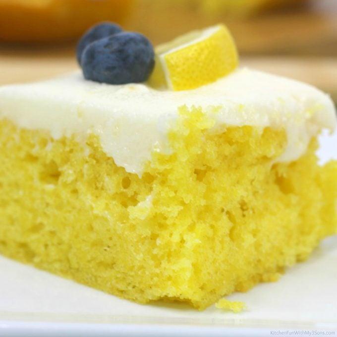Homemade Lemon Sheet Cake
