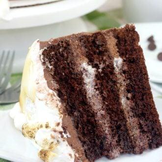 hot chocolate cake on a plate