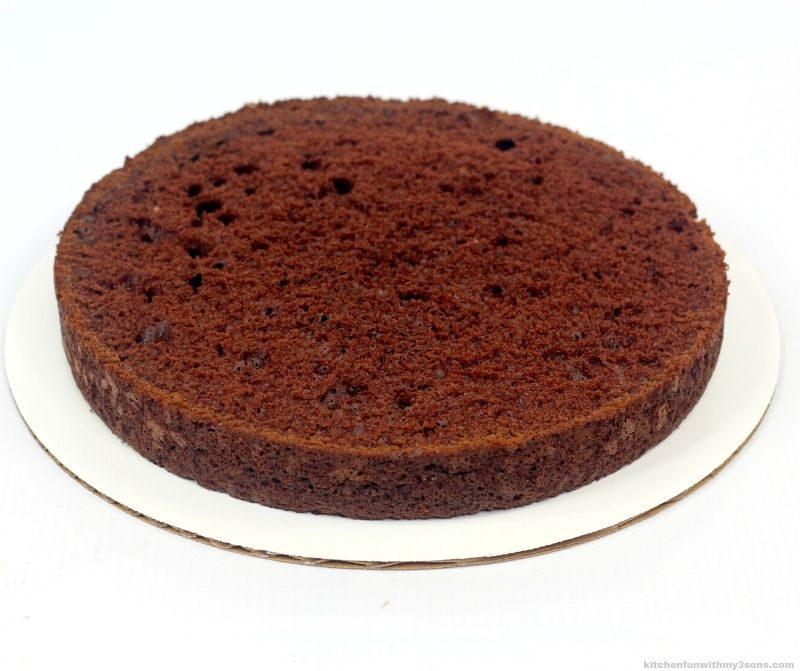chocolate cake on a cake board