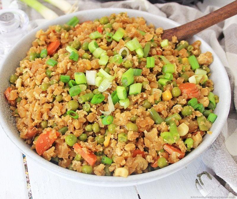 instant pot cauliflower fried rice