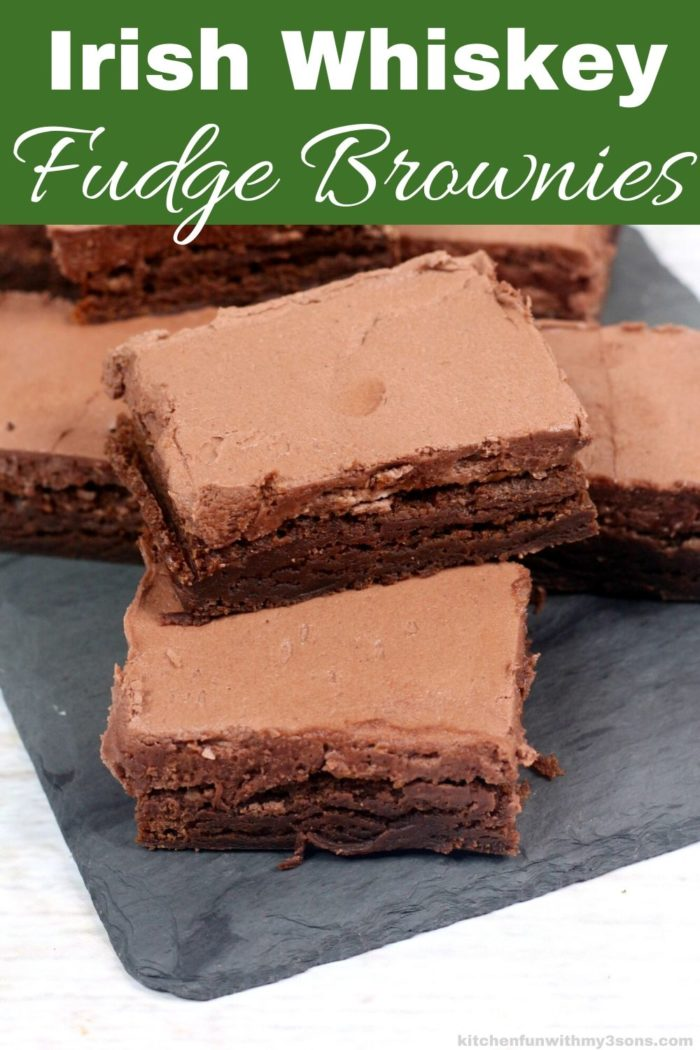 irish Whiskey fudge brownies