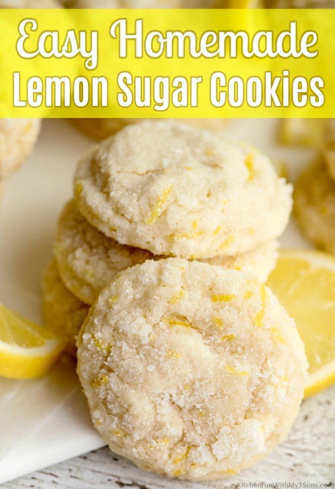Easy Homemade Lemon Sugar Cookies