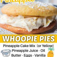 Pineapple Whoopie Pies