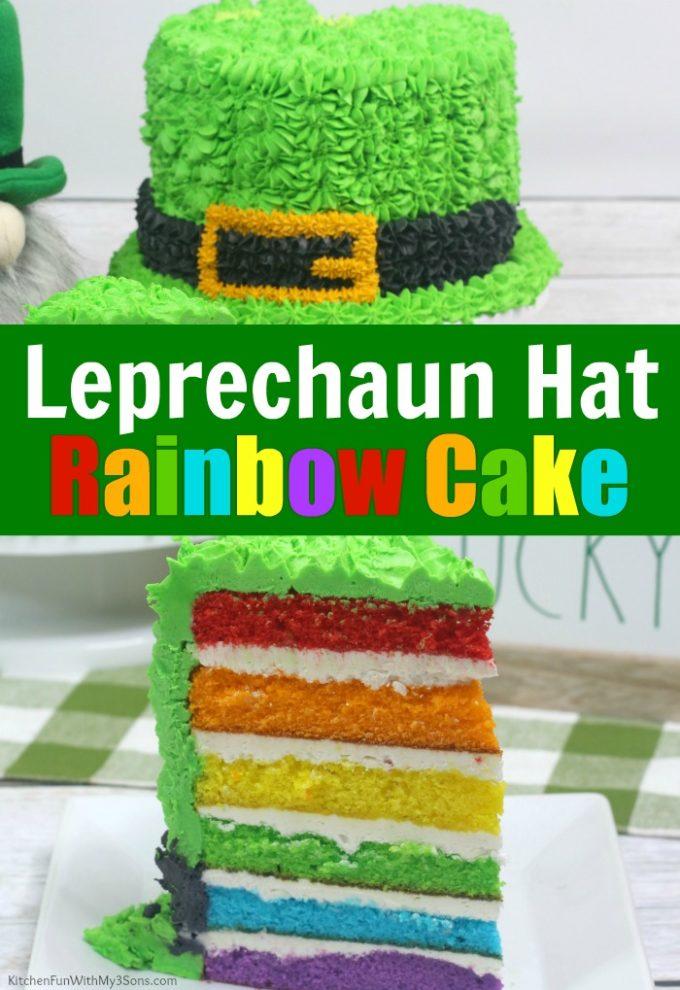 Leprechaun Hat Rainbow Cake