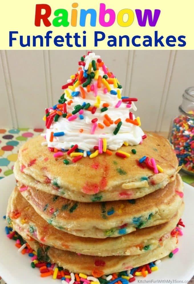 Rainbow Funfetti Pancakes