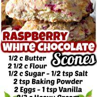 Raspberry White Chocolate Scones