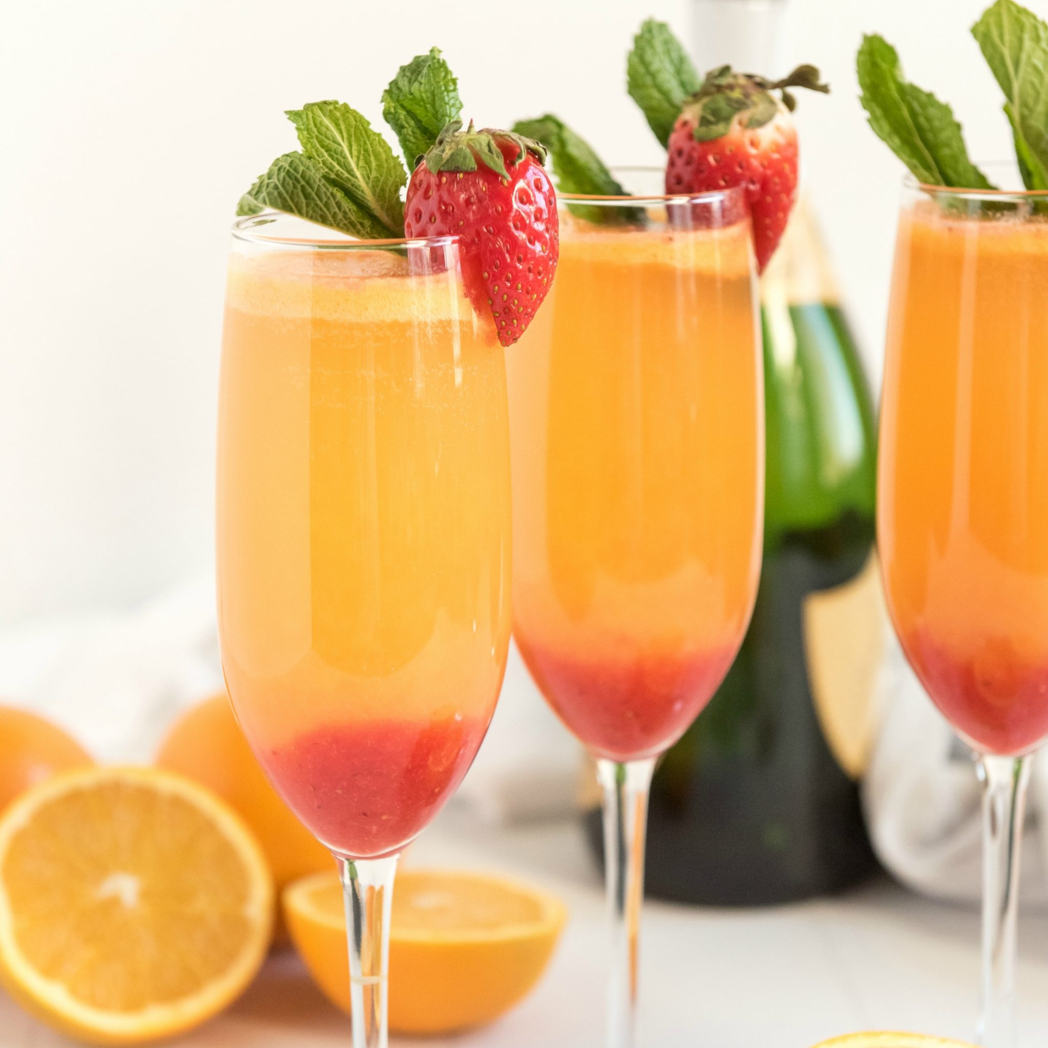 The Best Strawberry Mimosa Recipe - Kitchen Fun With My 3 Sons