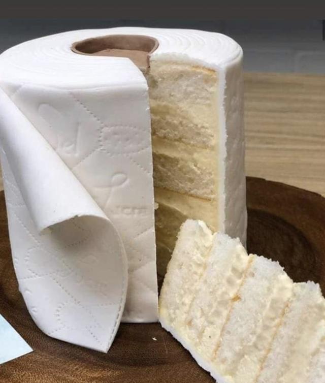 Toilet Paper Layered Cake