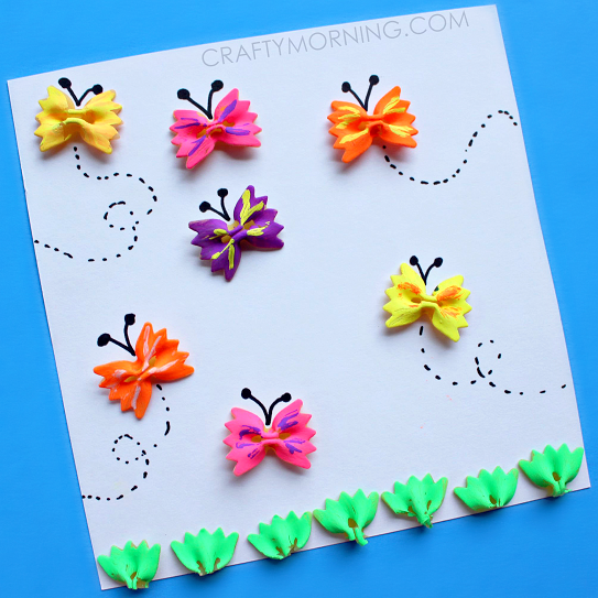 Bow Tie Noodle Butterfly Craft