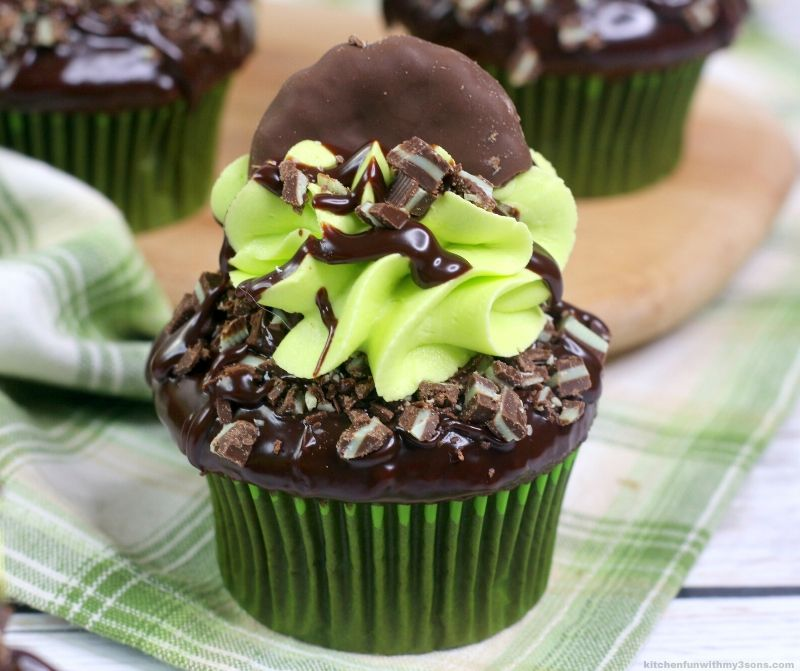 Andes Chocolate Mint Cupcake