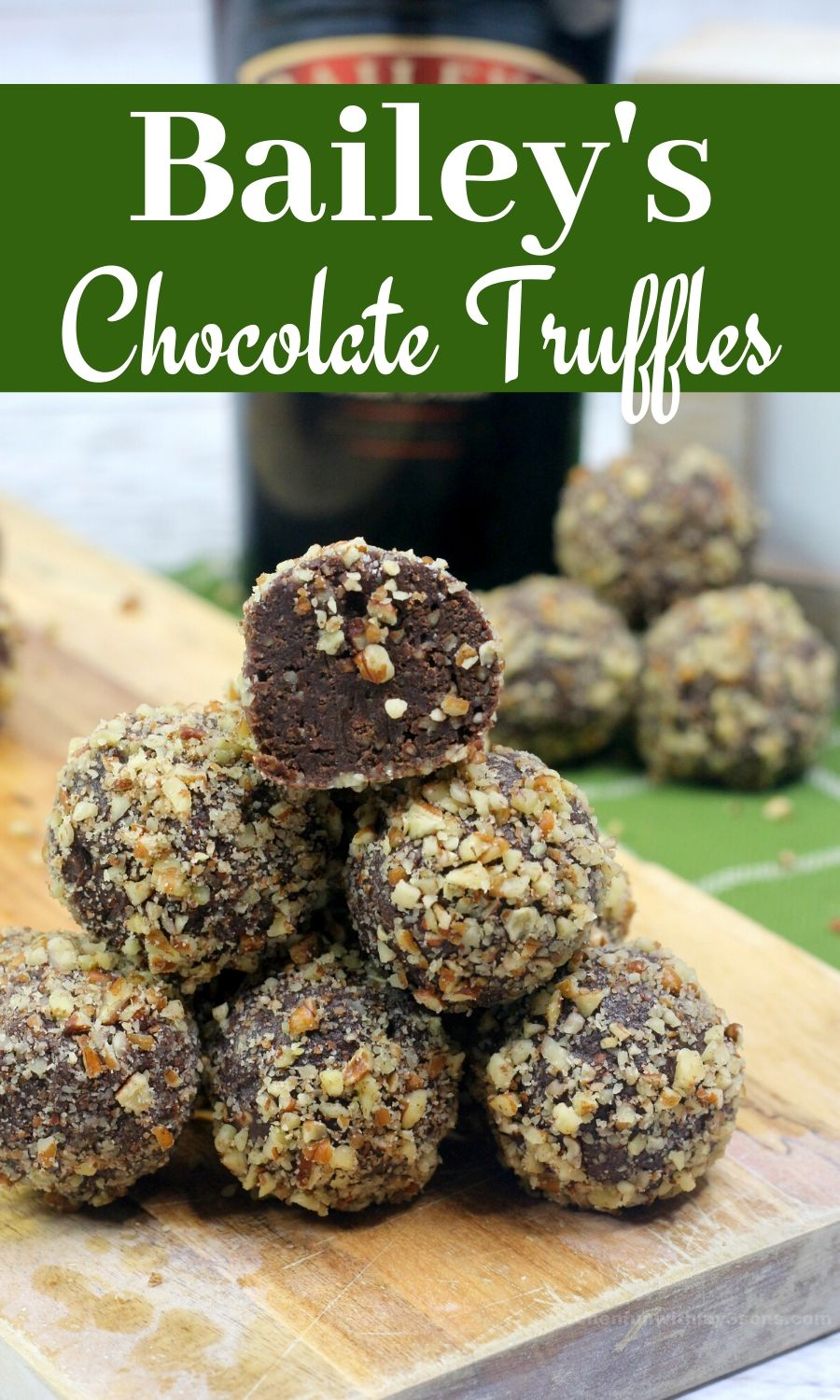 Bailey's Chocolate Truffles with Nuts