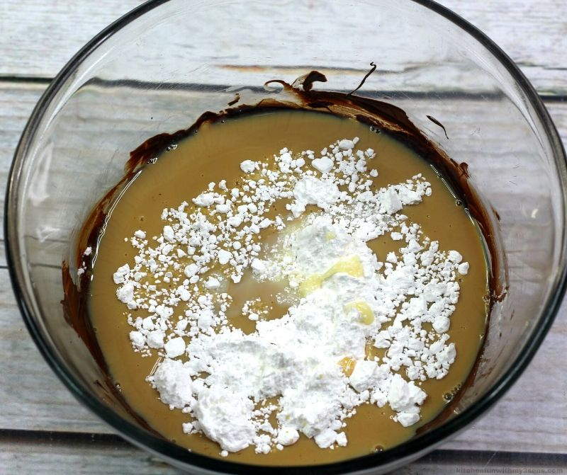 chocolate and sweetened condensed milk