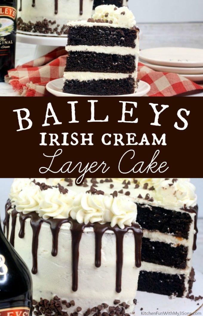 Baileys Irish Cream Layer Cake