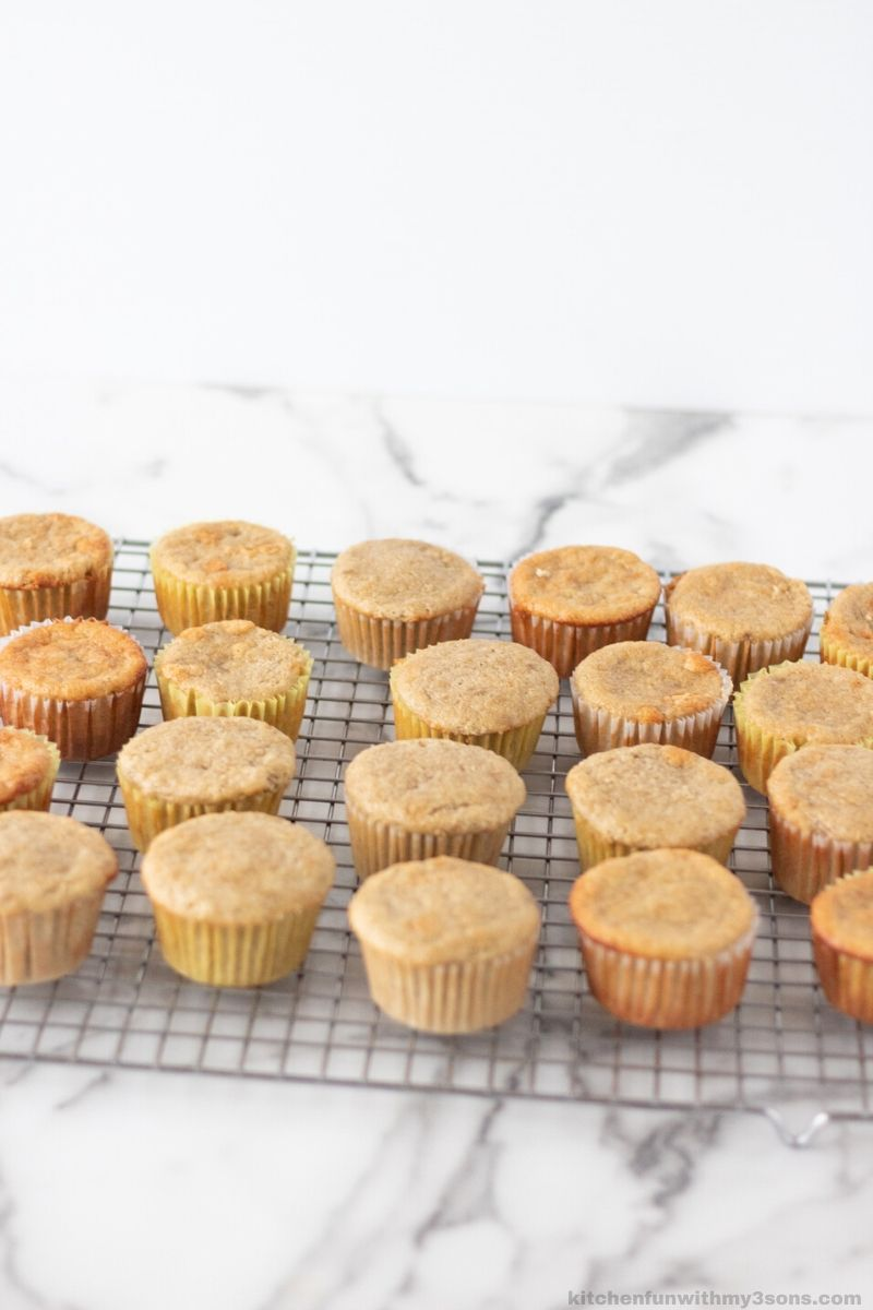cupcakes before frosting