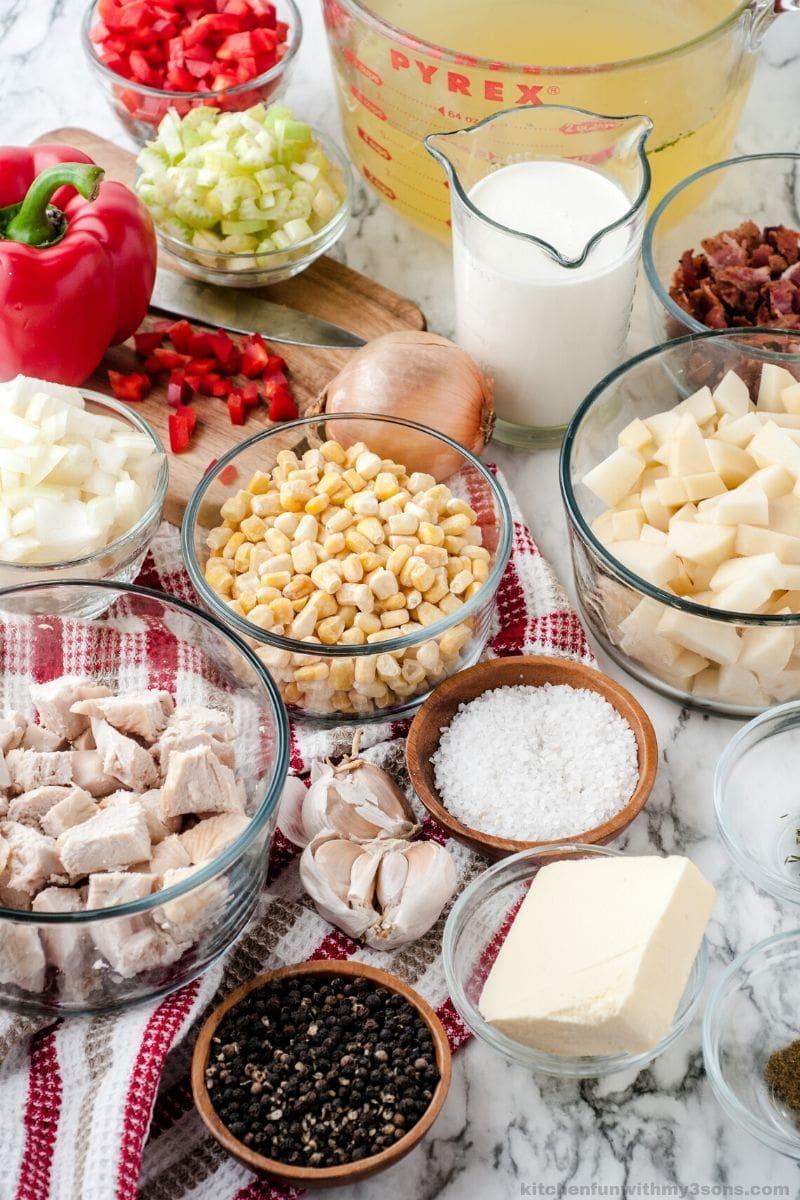 Chicken Corn Chowder Recipe ingredients