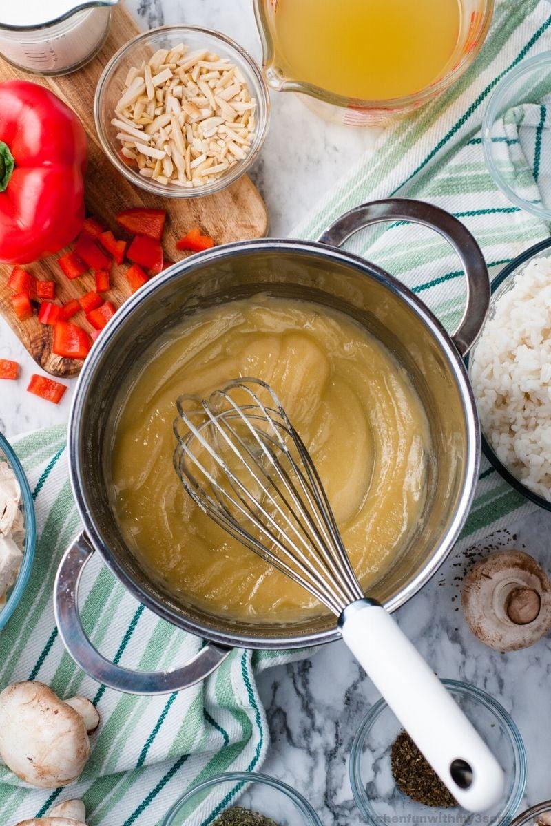 chicken casserole sauce