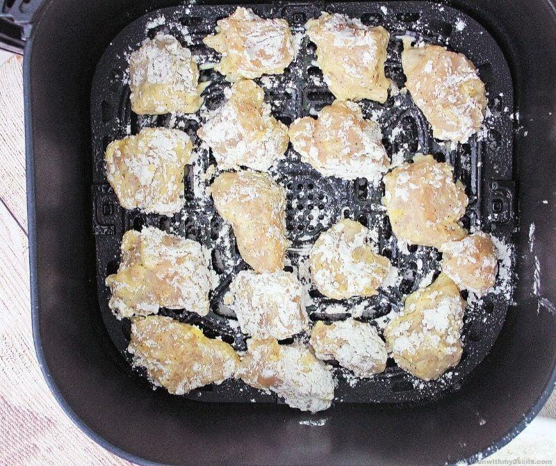 chicken pieces in the air fryer