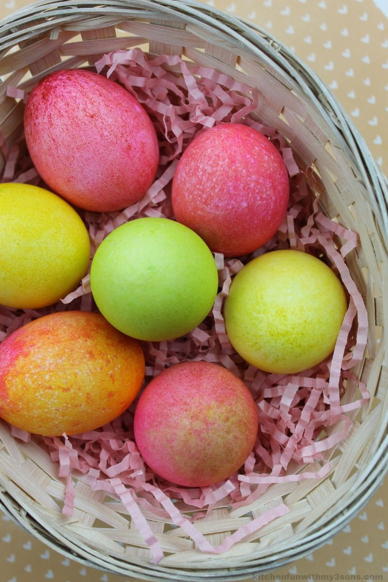 Fun Rice Dyed Easter Eggs