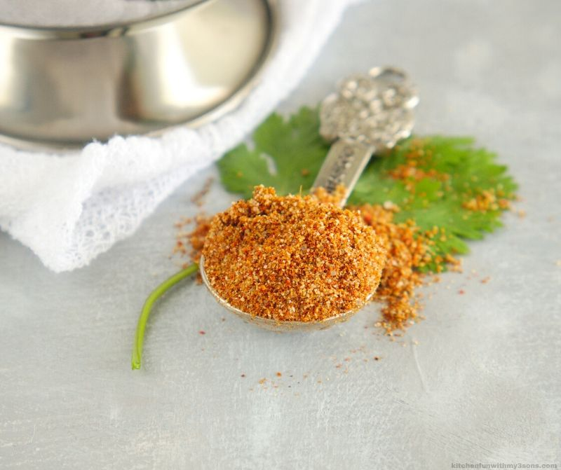 chili seasoning in a tablespoon
