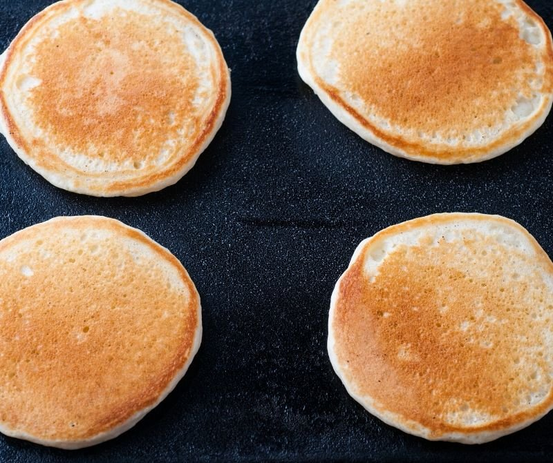 browned pancakes
