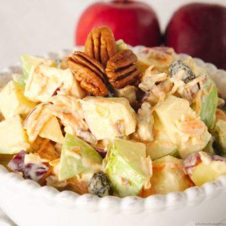 Mexican apple pecan salad