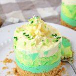 Mini St. Patrick's Day Cheesecake