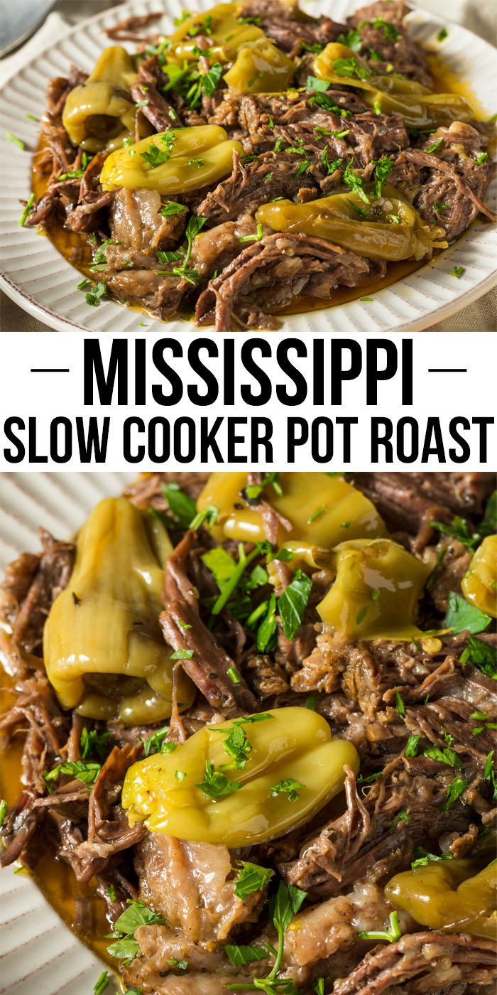 Mississippi Pot Roast in the Slow Cooker is tender and juicy. Make this freezer roast ahead of time for the easiest dinner you can make your family.
