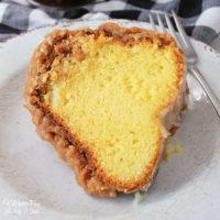 Rum Cake with Caramel Glaze