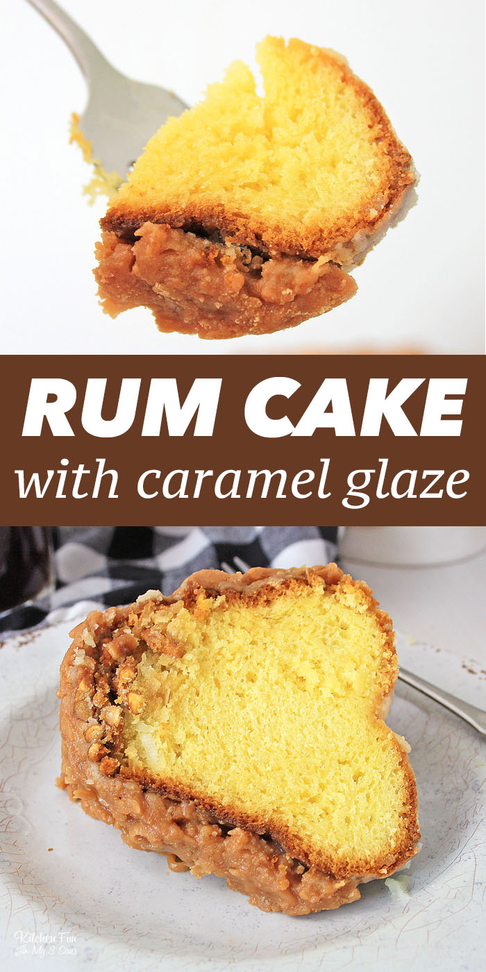 This Rum Cake is a fun take on a delicious classic dessert. From a yellow boxed cake mix, pudding and Bacardi Rum comes a yummy bundt cake recipe.