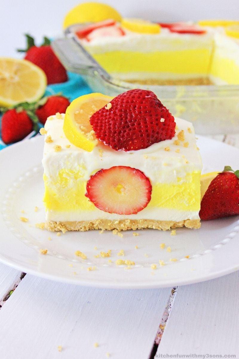 Strawberry Lemon Lasagna Icebox Dessert