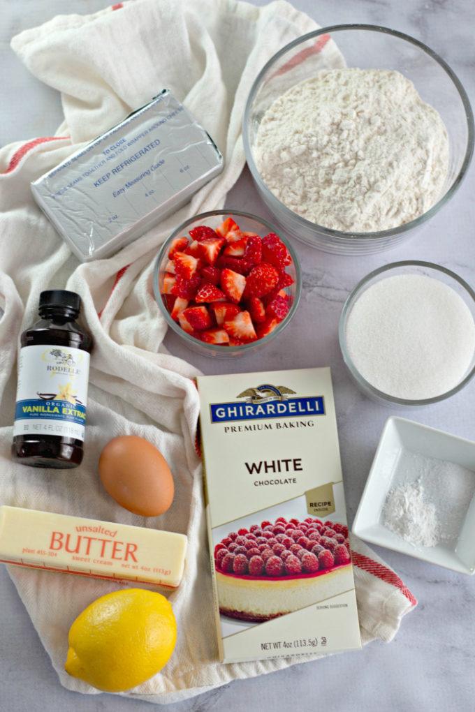 Ingredients to make cookies