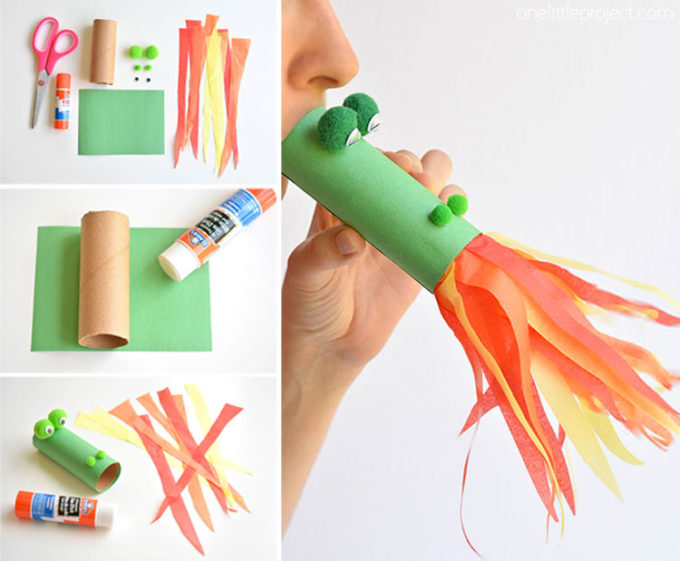 How To Make a Paper Roll Dragon Craft