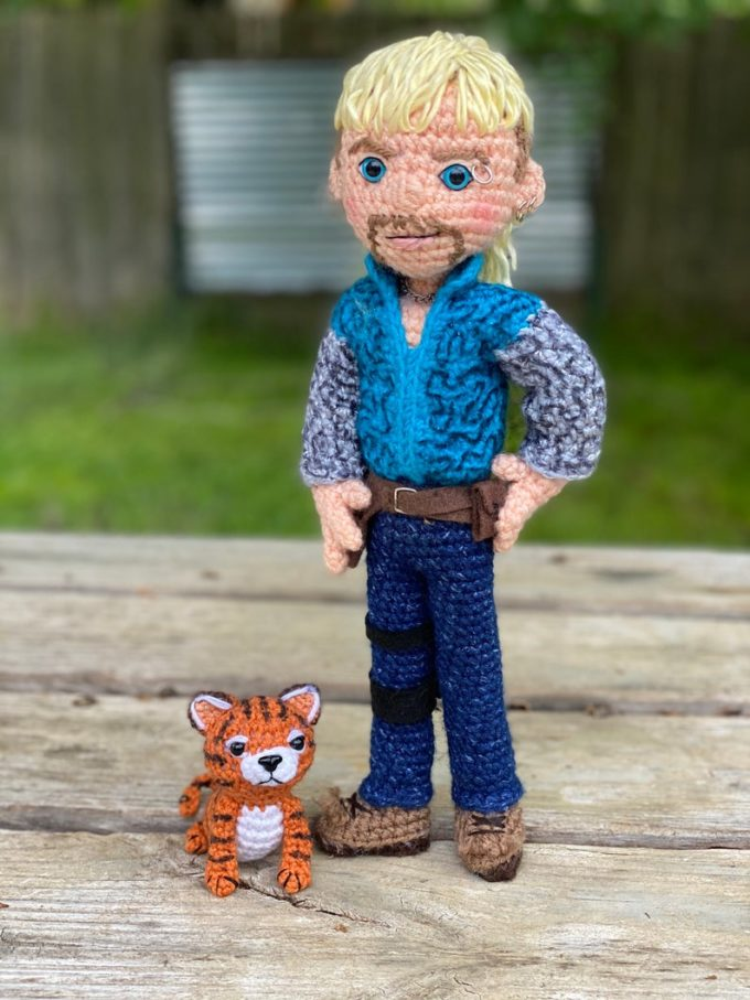 Crochet Tiger King Doll